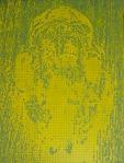 Jolanta Rejs Matrix (Yellow), 120 cm x 90 cm, CNC cut MDF